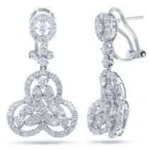 2.73ct 18k White Gold Diamond Earrings