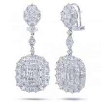 4.82ct 18k White Gold Diamond Earrings