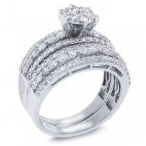 1.92ct 18k White Gold Diamond Lady's Ring 2-pc