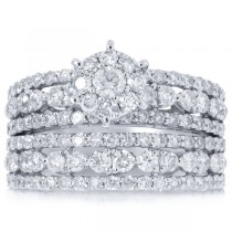 1.92ct 18k White Gold Diamond Lady's Ring 2-pc