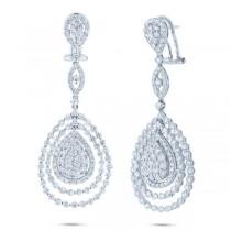 5.36ct 18k White Gold Diamond Earrings