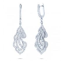 3.34ct 18k White Gold Diamond Earrings