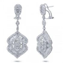 5.56ct 18k White Gold Diamond Earrings