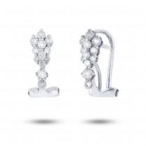 0.34ct 18k White Gold Diamond Earrings