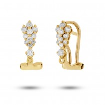 0.34ct 18k Yellow Gold Diamond Earrings