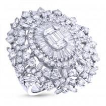 5.46ct 18k White Gold Diamond Lady's Ring