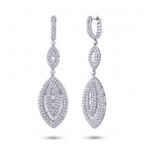 5.25ct 18k White Gold Diamond Earrings
