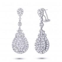 3.47ct 18k White Gold Diamond Earrings