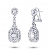 2.10ct 18k White Gold Diamond Earrings