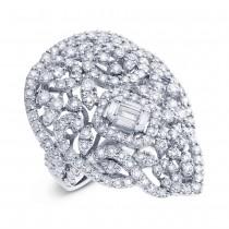 5.03ct 18k White Gold Diamond Lady's Ring