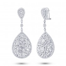 8.29ct 18k White Gold Diamond Earrings