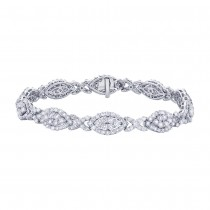 7.06ct 18k White Gold Diamond Lady's Bracelet