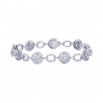 5.12ct 18k White Gold Diamond Lady's Bracelet