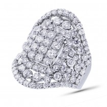 4.53ct 18k White Gold Diamond Lady's Ring