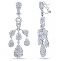 5.98ct 18k White Gold Diamond Earrings
