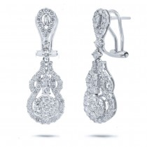 2.13ct 18k White Gold Diamond Earrings