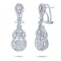 2.13ct 18k White Gold Diamond Earrings