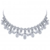 18.07ct 18k White Gold Diamond Necklace