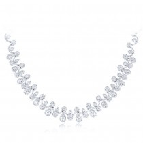17.83ct 18k White Gold Diamond Necklace