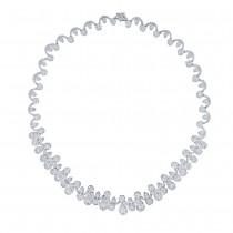 17.83ct 18k White Gold Diamond Necklace
