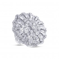 5.36ct 18k White Gold Diamond Lady's Ring