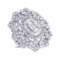 7.81ct 18k White Gold Diamond Lady's Ring