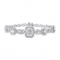 5.25ct 18k White Gold Diamond Lady's Bracelet