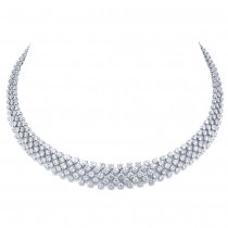 25.68ct 18k White Gold Diamond Necklace
