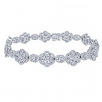7.48ct 18k White Gold Diamond Lady's Bracelet