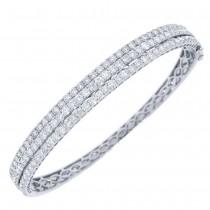 3.86ct 18k White Gold Diamond Bangle