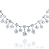 18.30ct 18k White Gold Diamond Necklace