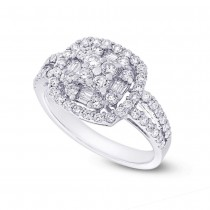1.14ct 18k White Gold Diamond Lady's Ring