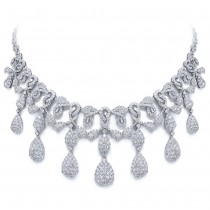 25.45ct 18k White Gold Diamond Necklace