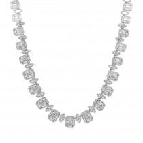 10.07 ct 18k White Gold Diamond Necklace