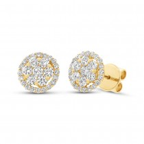 1.17ct 18k Yellow Gold Diamond Earrings