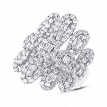 3.06ct 18k White Gold Diamond Lady's Ring