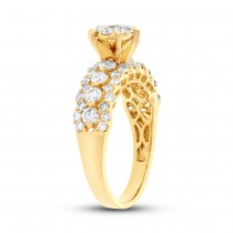 1.47ct 18k Yellow Gold Diamond Round Invisible Ring