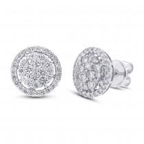 1.37ct 18k White Gold Diamond Earrings