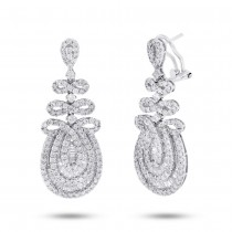 3.82ct 18k White Gold Diamond Earrings