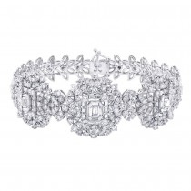 7.18ct 18k White Gold Diamond Lady's Bracelet