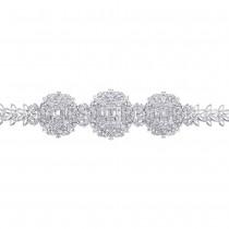 7.18ct 18k White Gold Diamond Lady's Bracelet escape