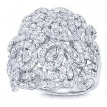 3.25ct 18k White Gold Diamond Lady's Ring
