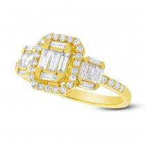 0.85ct 18k Yellow Gold Diamond Baguette Lady's Ring