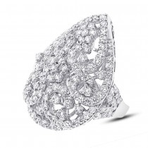 5.24ct 18k White Gold Diamond Lady's Ring