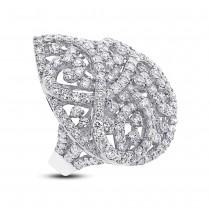 5.13ct 18k White Gold Diamond Lady's Ring