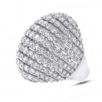 7.68ct 18k White Gold Diamond Lady's Ring