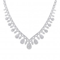 20.57ct 18k White Gold Diamond Necklace