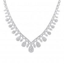 20.57ct 18k White Gold Diamond Necklace