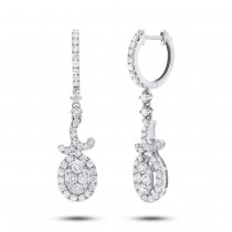 1.45ct 18k White Gold Diamond Earrings