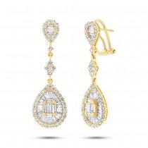 2.70ct 18k Yellow Gold Diamond Earrings